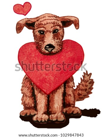 Beautiful Bear Brown Adorable Dog - stock-photo-a-painted-brown-cute-dog-holds-a-large-red-heart-one-small-above-it-greeting-card-with-hearts-and-1029847843  Snapshot_7717100  .jpg