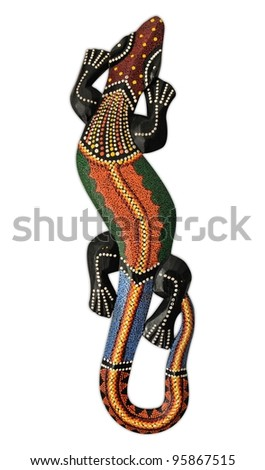 A painted lizard from bali - indonesia - stock photo