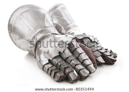 A pair of armored gloves - stock photo