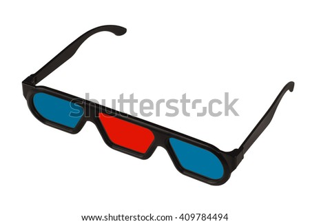 A pair of 3D glasses with three lenses