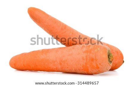A pair of fresh carrots