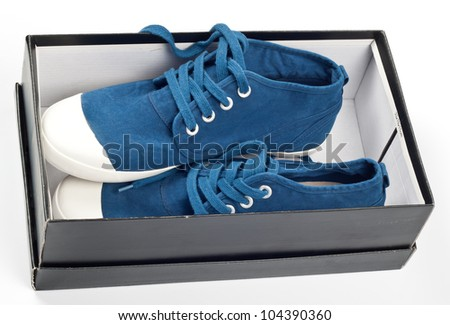 A pair of new blue shoes in a shoe box  sc 1 st  Shutterstock & New Shoes Box Stock Images Royalty-Free Images u0026 Vectors ... Aboutintivar.Com