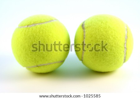 A pair of tennis ball