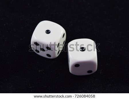 A pair white of dice showing Double One