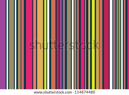 A panel of vertical stripes in high contrasting colors