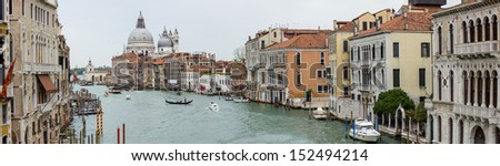A panorama of Grand Canal in Venice, Italy - stock photo