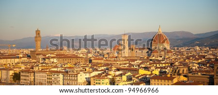 A panorama of the skyline of Florence, Italy