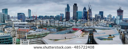 A Panorama View of the City of London, UK