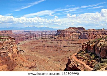 A panoramic view in Canyonlands National Park in Utah/Canyonlands National Park Vista/Canyonlands National Park Vista - stock photo