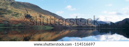 A panoramic view of Ullswater in Cumbria