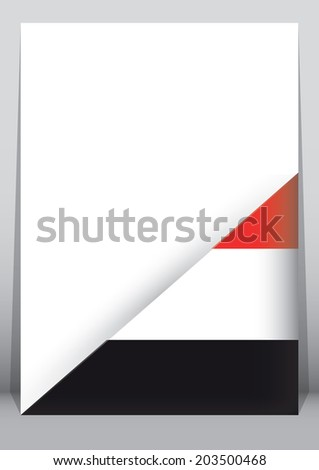 A4 Paper with a corner cover with the flag of Yemen - stock photo