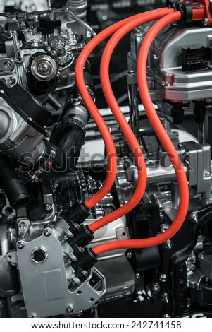 A part of engine  - stock photo
