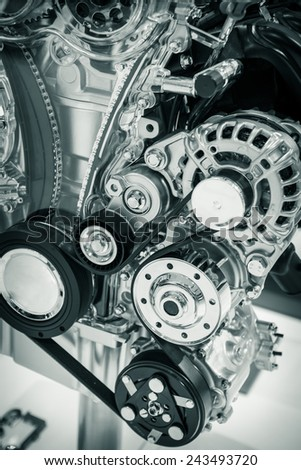 A part of engine. - stock photo