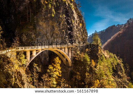 A part of Transfagarasar Highway close to Vidraru dam. - stock photo