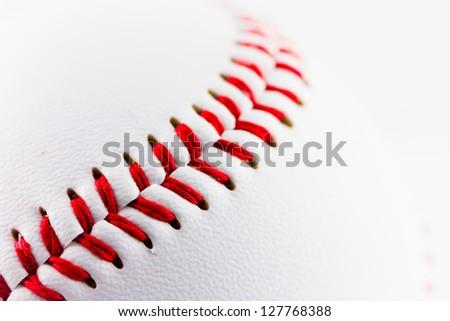A particular of a baseball ball - stock photo