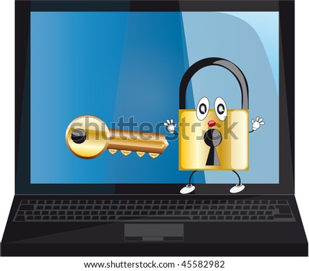 a password for laptop - stock photo