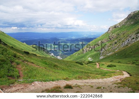 A Path In The Mountains - stock photo