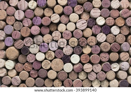 A pattern of wine corks - stock photo