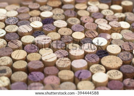 A pattern of wine corks in perspective - stock photo