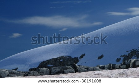 A perfect slope in Antarctica - stock photo