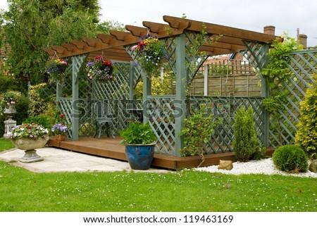 A Pergola In An English Urban Garden
