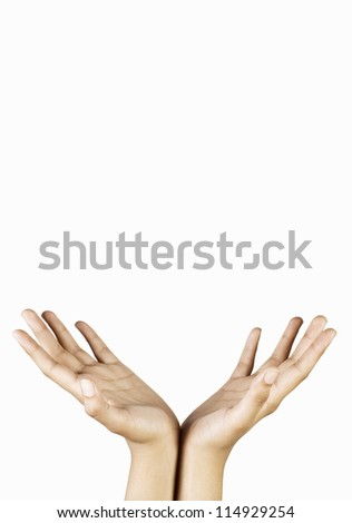 A person's hand gesturing