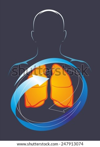 A person who cares about the health of their lungs - stock photo