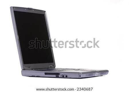 A personal laptop computer isolated on white background