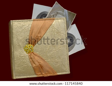 a photo-album with some old photos - stock photo
