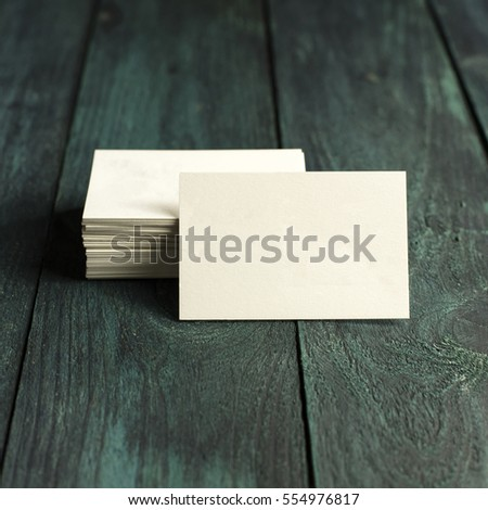 Square Business Card Mockup Template Stock Images RoyaltyFree