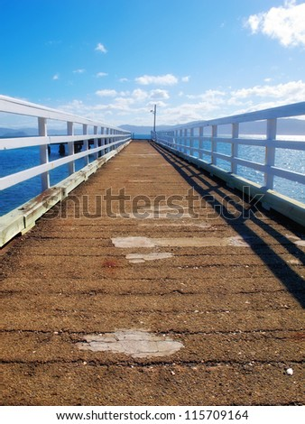 A photo of a pier - stock photo
