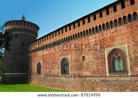 A photo of an old castle . - stock photo