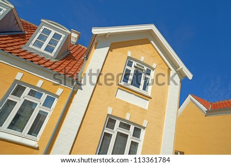 A photo of an old Danish house - stock photo