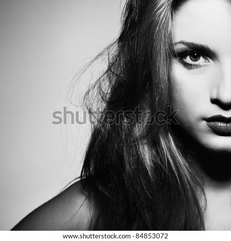 A photo of beautiful girl is in style - stock photo