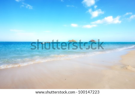 A photo of beautiful tropical beach