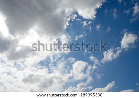 a photo of blue sky - stock photo