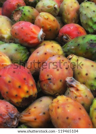 A photo of Cactus fruits on a market - stock photo