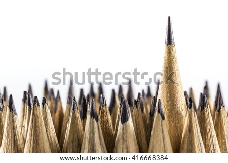 A photo of Different pencil with space for text, Selective focus, Concept idea photo art - stock photo