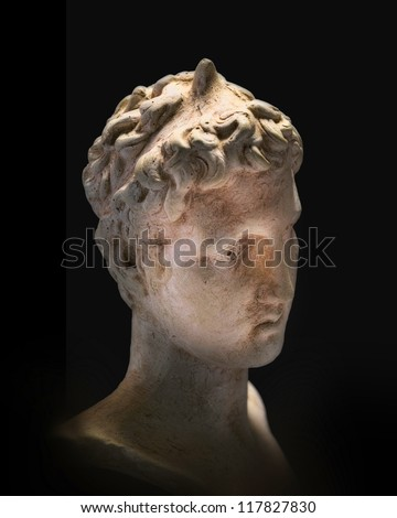 A photo of Greek philosopher - sad, deep, and enlighted - stock photo