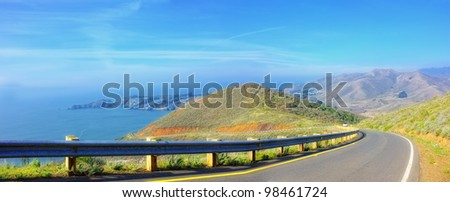 A photo of nature close to The Golden Gate - stock photo