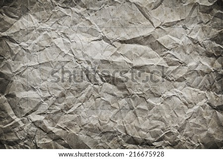 a photo of old crumpled paper,abstract background - stock photo