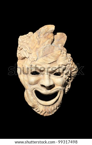 A photo of old Greek sculpture over black - stock photo