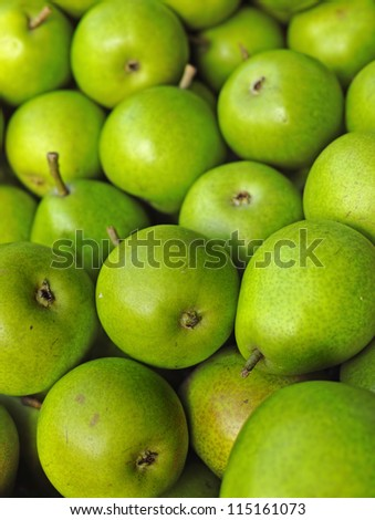 A photo of pears
