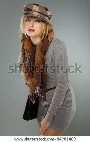 A photo of sexual  beautiful girl is in fashion style