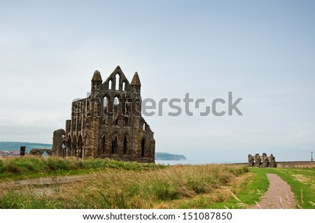 A photo of the Abbey of Whitby, United Kingdom - stock photo