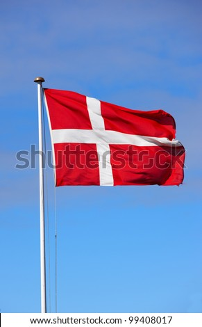 A photo of the Danish flag
