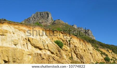 A photo of the Twelve Apostles in Cape Town, South Africa - stock photo