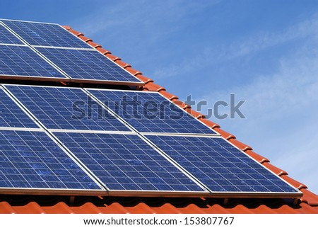 a photovoltaic power plant on a roof