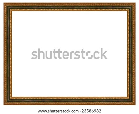 a picture frame on a white