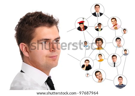 A picture of a young man thinking about his future - stock photo